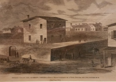 "Harper's - ""Henrico Country Jail, Richmond"", Ca 1860, $40, Engraving"