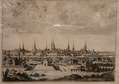 "Unknown - ""Lubeck, In Holstein Germany"", Ca 1700, Engraving"