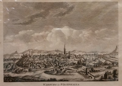 "Unknown - ""Warburg in West Phalia"", Ca 1700, Engraving, $130"