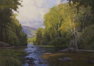 "John Poon - ""Heading to The River"", 30x40, Acrylic SOLD"