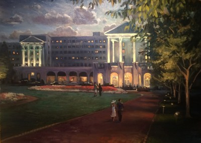 "Ken Knowles	- ""Greenbrier Evening"", 24x30, Oil"