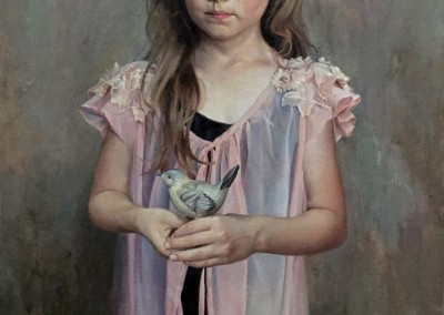 "Ardith Starostka - ""Little Bird"", 30x20, Oil"