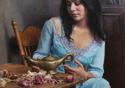"Ardith Starostka - ""Three Wishes"", 27x20, Oil"
