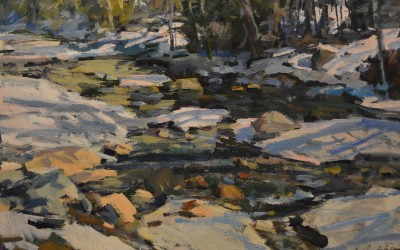 """Charles Movalli - """"The Thaw"""", 30x40, Acrylic"""