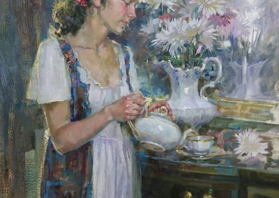 "John Michael Carter - ""Breakfast Tea"", 24x18, Oil"