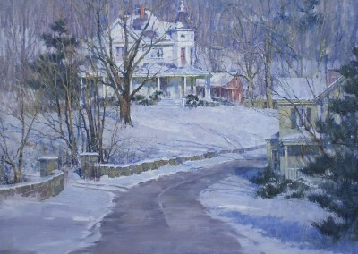 "John Michael Carter - ""Hillside House"", 36x36, Oil"