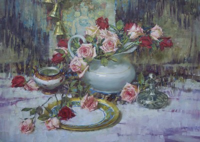 "John Michael Carter - ""Roses"", 24x30, Oil"