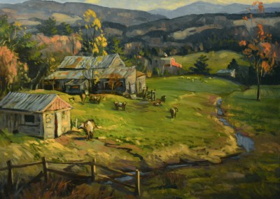 "Ken Knowles - ""Vermont Farm"", 24x30, Oil"