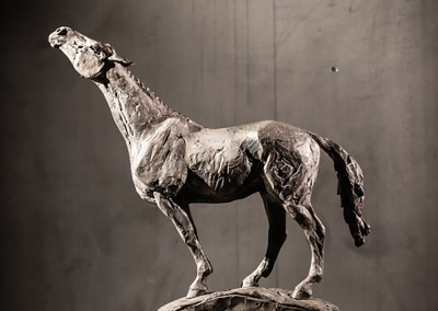 "Stephanie Revennaugh - ""Search"", 18x12x5, Bronze, Sold"