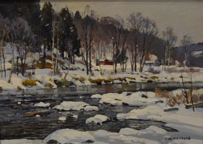 "TM Nicholas - ""Snow Melt"", 18x22, oil, SOLD"