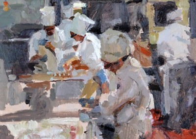 "Cameron Smith - ""Kitchen Study"", 12x12, Oil"