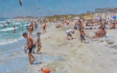 """Cameron Smith - """"White Sands"""", 11x14, Oil, SOLD"""