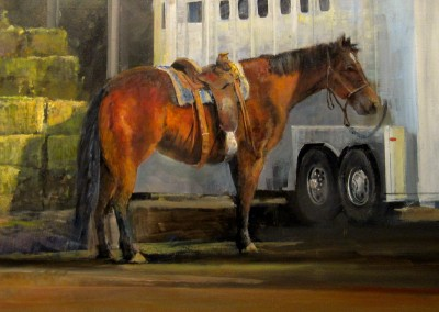 "Gil Dellinger - ""A Hard Days Work Ahead"", 24x30, Oil"