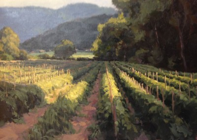 "Kate Starling	- ""Tomato Patch Under the Blue Ridge"", 20 x 24, Oil"