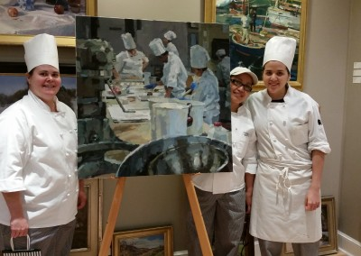Two Chefs with Cameron Smith's Painting