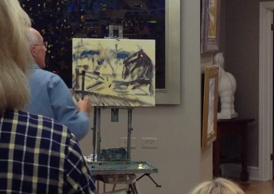 Charles Movalli's painting progresses