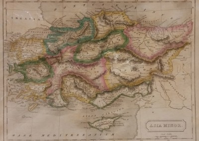 Butler, Samuel Asia Minor Pl XIII 1839 Engraving from Atlas of Ancient Geography MA0011OM $160
