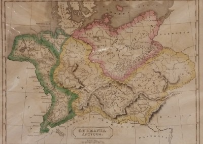 Butler, Samuel Germania Antiqua Pl V 1839 Engraving from Atlas of Ancient Geography MA0020OM $130