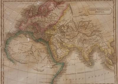 Butler, Samuel Orbis Veteribus Notus 1839 Engraving from Atlas of Ancient Geography  $130