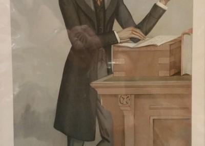 "Vanity Fair ""A Chief Secretary"" 1896 Chromolithograph  $80"