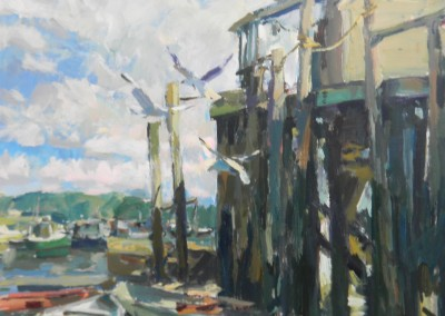 "Charles Movalli - ""Low Tide"", 36x36, Acrylic SOLD"