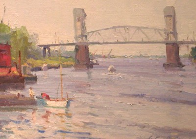 "Russell  Case - ""Cape Fear Morning"", 11x14, Oil, SOLD"
