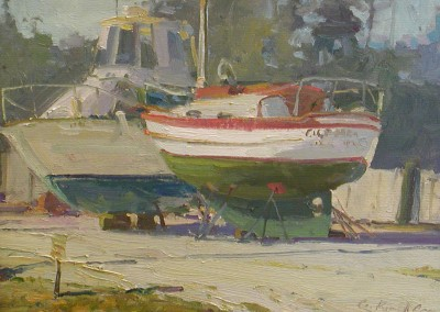 "G Russell Case  - ""Masons Landing"" - 11x14, Oil, Sold"