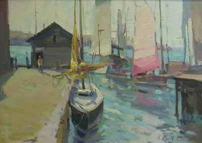 "G Russell Case  - ""Morning Harbor"", 12x16, Oil"