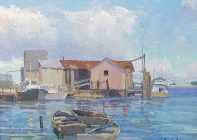 "Russell  Case - ""SouthPort II"", 16x20, Oil, SOLD"