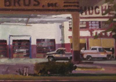 "Robert Morin Isley - ""Hughes Bros. at Night"", Oil, Sold"