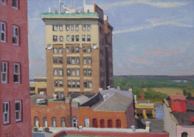 "Robert Morin Isley - ""From the Parking Deck"", Oil, Sold"