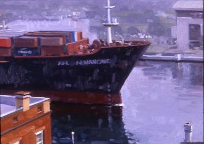 "Robert Morin Isley - ""Leaving Savannah"", 8x8, Oil, Sold"