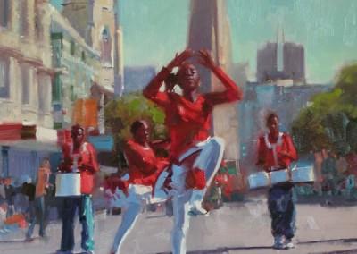"Randall Sexton - ""High Steppin"", 30x24, Oil, Sold"