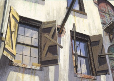 "Robert Morin Isley - ""River Street Windows"", 10x14, Oil, Sold"