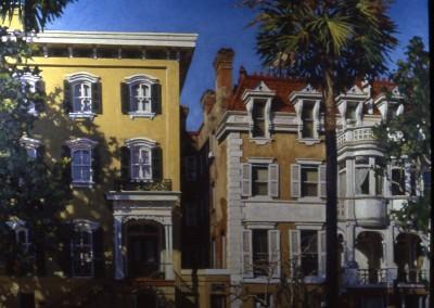 "Robert Morin Isley - ""Savannah Houses"", 30x40, Oil, Sold"