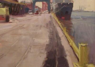 "Randall Sexton - ""NC Ports"", 20x16, Oil"