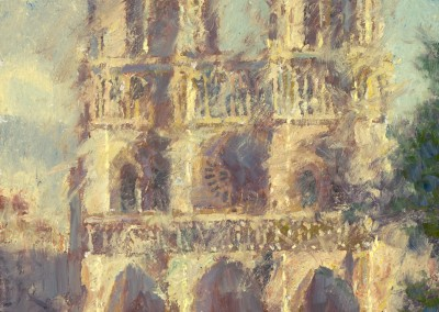 "CW Mundy - ""Notre Dame"", 20x16, price 10,500"