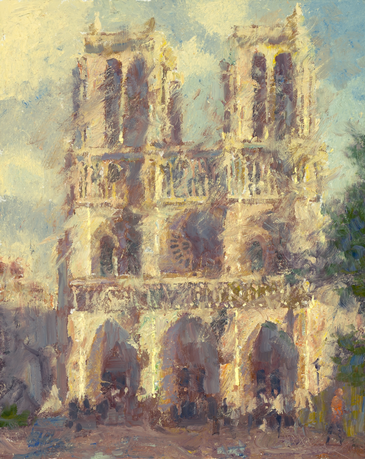 "CW Mundy – ""Notre Dame"", 20×16, price 10,500 