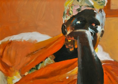 """Robert Akers - """"Mali Midwife"""", 12x16, 800"""