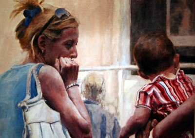 """Robert Andes - """"Market Baby"""", 22x26, 2800"""