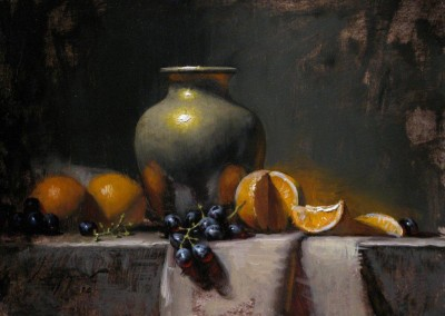 "Jeff Legg - ""Citrus and Brass"", 12x16, price 6800"