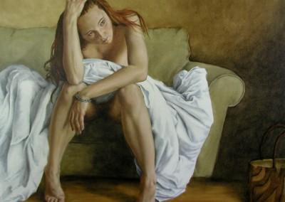 """Laura Den Hertog - """"Annie Blooming"""", 24x30, price 1430"""