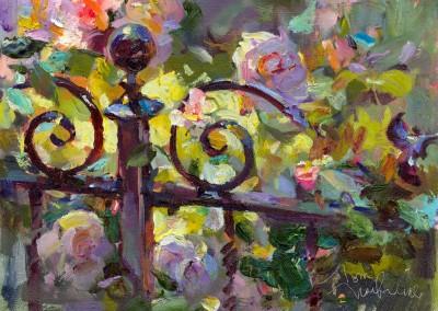 "Tom Nachreiner - ""Susan's Roses"", 14x18, 2400"