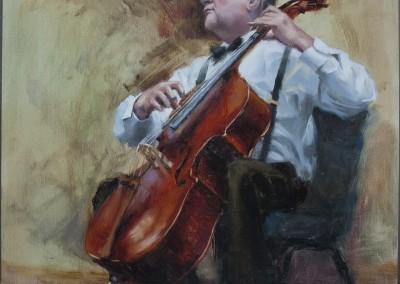"Taaron Parsons - ""Cellist"" 20x16 $1000"