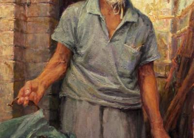 """Mary Pettis - """"The Poet"""", 36x24, 4800"""