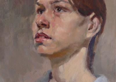 "Vladimir Ribatchok - ""Contemplation"", 12x10, 900"