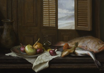 "Michael Van Zeyl - ""Still Life with an Ocean View"", 20x36, 3800"
