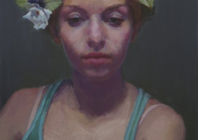 "Mark Zelton - ""Girl with Flowers"", 16x12, 675"
