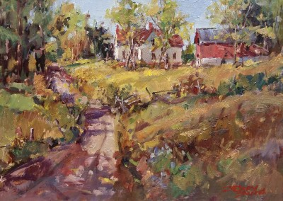 "Jerry Smith - ""August Juncture"", 12x16, Oil. Sold"