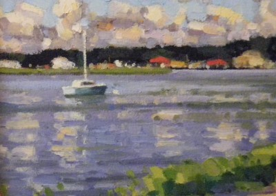"Robert Isley ""On the Water"", 9x9, oil, SOLD"